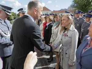 Gratulacje od wiceministra Marcina Jabłońskiego. fot. Krzysztof Chwała